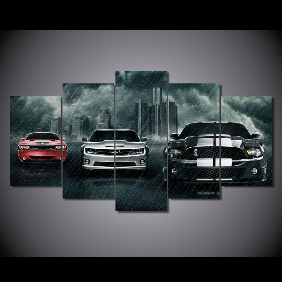 Modular wall paintings 2017 hot sale muscle cars planet for Canvas art on sale