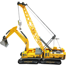 New Engineering Vehicle 1:55 Hot Construction Model Excavator Truck Car Crane Toys For Cool Children Diecast Toy Kid Educational 1 50 high simulation alloy crawler crane truck toy car mini diecast engineering crane car model for children enduction toys gift