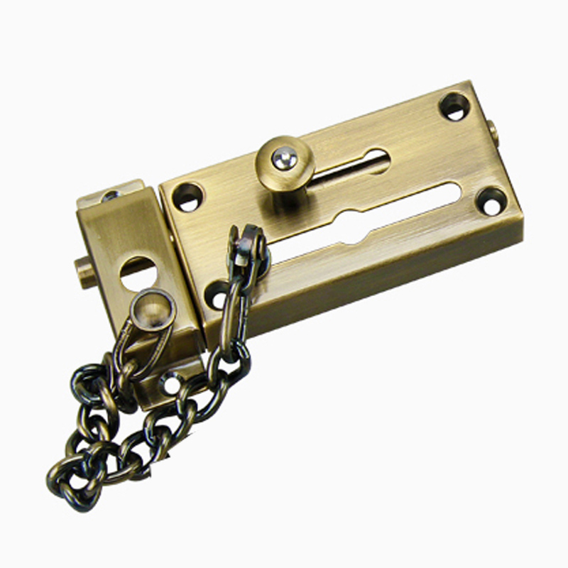 US $14 68  Stainless Steel Pickproof Lock Chain Bolt Safety Chain Hotel  Security Chain Latch Decorative Hardware Door Lock-in Locks from Home