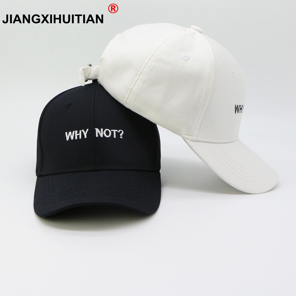 Letter WHY NOT Snapback   Baseball     Cap   Hip Hop Hat For Men Women Dad Gorras Boy Girls Cotton Black pink White Fitted Hat Bone   Caps
