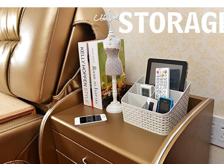 Simple life Desktop sundries pen pencil storage basket organizer vintage container storage basket plastic box storage box 5
