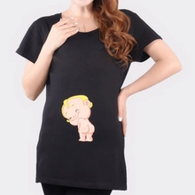 """""""Lovely Baby Butt"""" funny pattern cute clothes for pregnant women Tees european T shirt cotton maternity shirt pregnancy tops T5"""