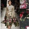 2015 Новые Шелковые Ткани Ткань Рубашки Широкий Пляж Платье Шифон Шарфы Причудливый Роза