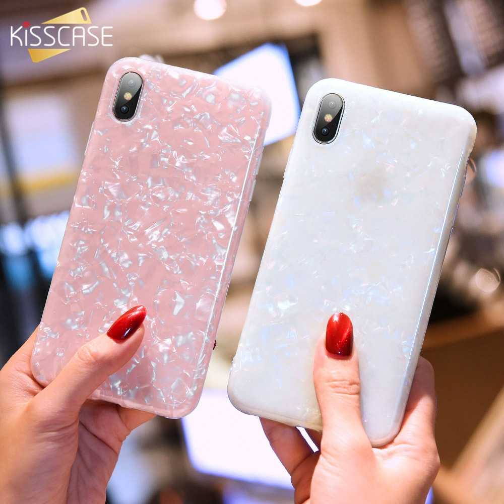 Funda de teléfono KISSCASE Dream Shell para iPhone XS Max XR 6 6 S Plus funda suave brillante para iPhone X 7 8 Plus de la nebulosa