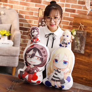 Anime Angels of Death Rachel Gardner Isaac Foster Cosplay Doll Plush Back Cushion Throw Pillow Keychain Pendant Toy Xmas Gifts(China)