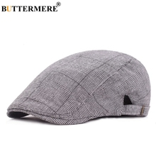BUTTERMERE Mens Flat Cap Hats Cotton Houndstooth Beret Hat Women Grey Adjustable Fashion Spring British Gatsby Duckbill Ivy Cap buttermere flat beret cap adjustable women gray british classic cotton ivy cap male spring casual vintage driver hat and caps