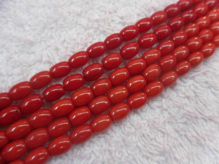4x6 мм красный коралловый рисовый Баррель Форма Бусины полудрагоценный камень для модных ювелирных изделий 10 нитей в партии
