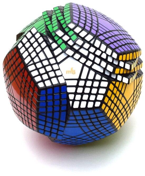 MF8 Petaminx autocollants Cube magique Puzzles noir 9*9 Dodecahedron 9x9 vitesse Cubo Magico jouets éducatifs cadeau avec autocollants supplémentaires