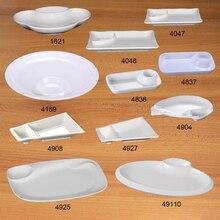 Melamine Dinnerware Dinner Plate Dish With Taste Lattice Chain Restaurant Plates Sashimi Tableware