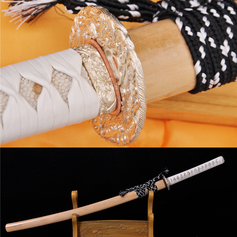 Handgemaakte klei gehard stalen mes Japanse Samurai sliverende Tsuba - Huisdecoratie