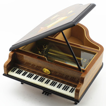 50 Tones Wooden Piano Music Box Walnut Musical Boxes for Princess Love Girl Valentine's Day Birthday Gift Luxury Gifts 2016 New