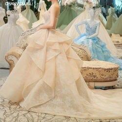 LS00400 пикантные торжественное платье vestidos De Noiva невесты платья белые свадебные женские нарядное платье свадебное длинный хвост trouwjurk
