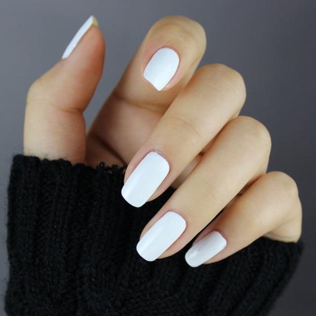 Top GelLen soak off gel Bianco nail polish French nail tips uv gel  HT47