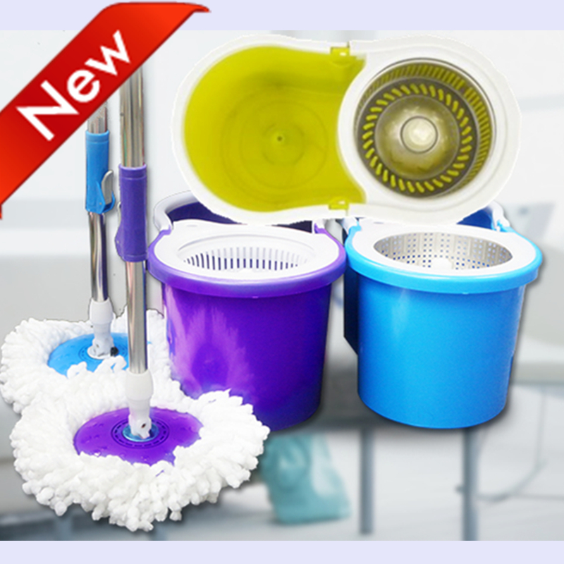 Purple mop and bucket with spin cycle S600PU