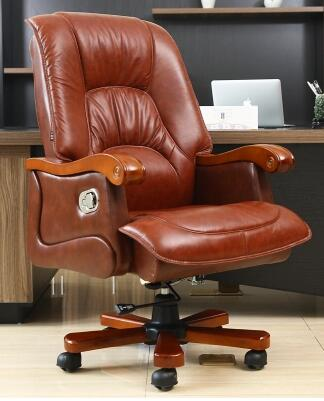 Купить с кэшбэком Leather boss can lay of large chair office chair packages mailed home computers