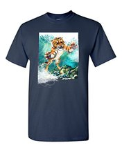 Printed Tee Shirt Design T Shirts Male Low Price Steampunk Fashion Tiger Make Up Wild Animal Tee Short-Sleeve Tees For Men