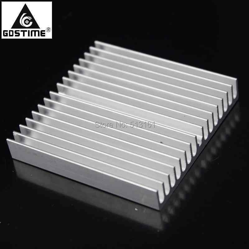 Gdstime 60x60x10mm Aluminum HeatSink for Chip CPU GPU LED IC Heat Sink Radiato Cooler Cooling pccooler 20pcs aluminum cooling heat sink mos chip cpu gpu vga ram led ic heatsink radiator cooler
