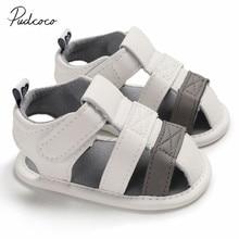 Детская летняя обувь для новорожденных, младенцев, маленьких девочек и мальчиков, детская обувь для кроваток с мягкой подошвой, однотонная Повседневная нескользящая обувь для первых шагов 0-18 м