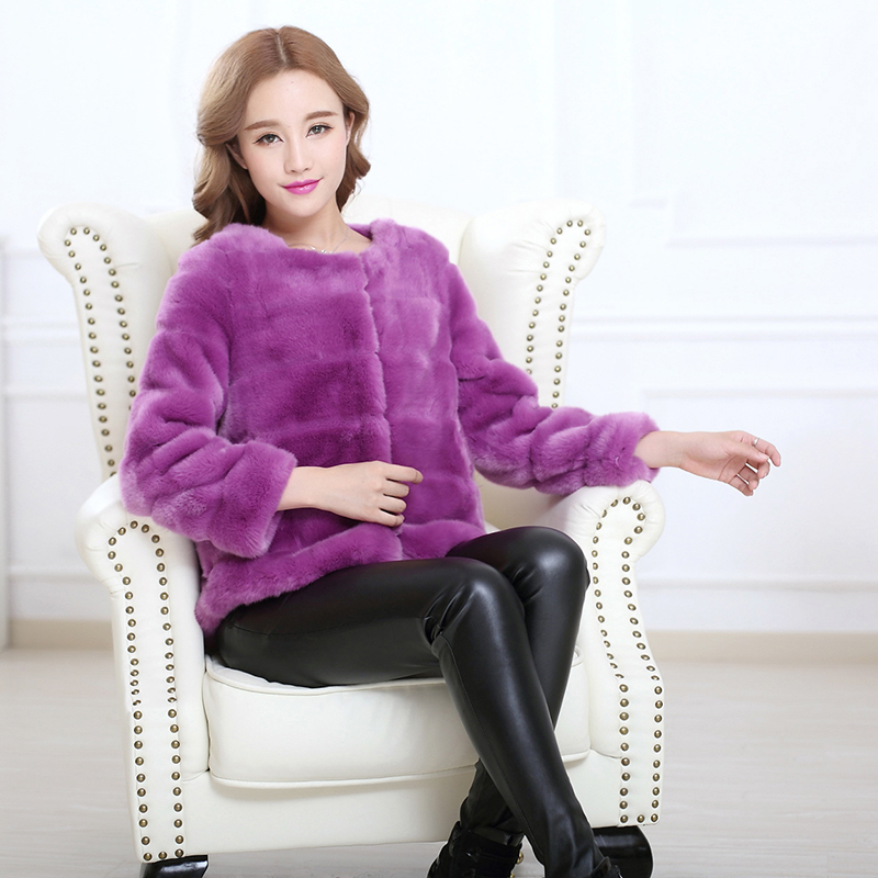faux fur coat women plus size collarless furry mink fur top 5xl 6xl 7xl winter black purple short striped fluffy fake fur jacket