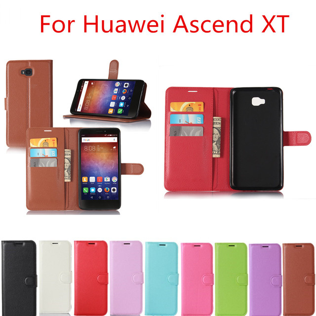 For Huawei Ascend XT 6.0inch Case Wallet Style PU Leather Litchi Texture Back Bag Cover For Huawei Ascend XT H1611 Phone Case