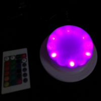 Dual RGB 6 LED Light Source 16 Colour Change LED Decoration Lighting For Wedding and event Free Shipping 1 full set