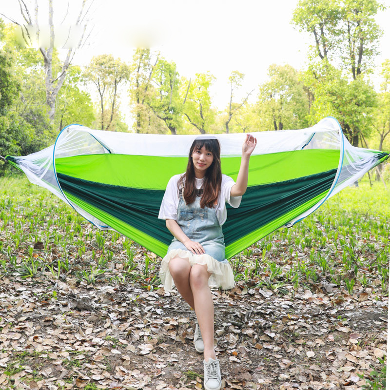 The Mosquito Net Hammock 2 Person Anti-mosquito Automatic Opening Dorm Hanging Chair Outdoor Furniture Swing Dropshipping