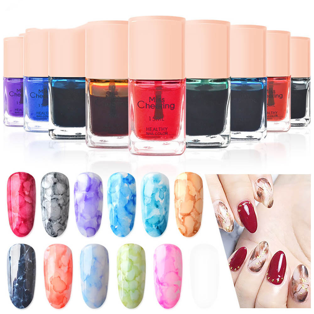 New Products UV Watercolors Ink Marble Nail Polish Art Smoke Color Smudge Bubble Armor Color Smudge Nail Gel Art Tool DIY Nibbler