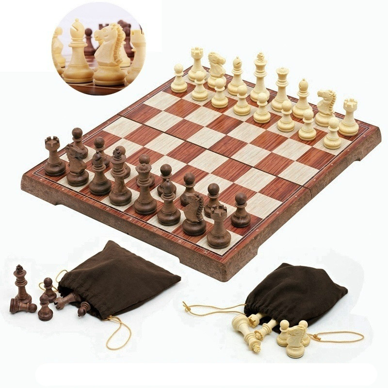 4 Size Magnetic Board Tournament Travel Portable Chess Set New Chess Folded Board International Magnetic Chess Set playing Gift
