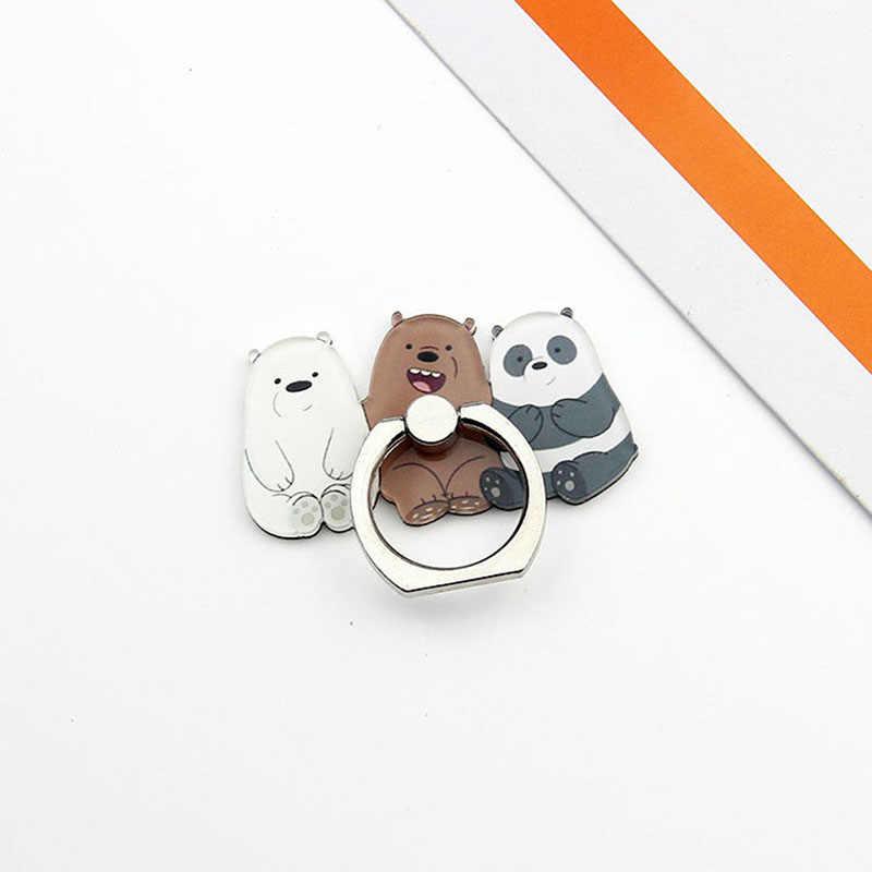 מכירה לוהטת אוניברסלי טלפון Stand שלושה דוב סוגר מתכת Stand טלפון מחזיק אצבע חמוד Cartoon Stand עבור iphone 5S 6s 7 8 בתוספת X