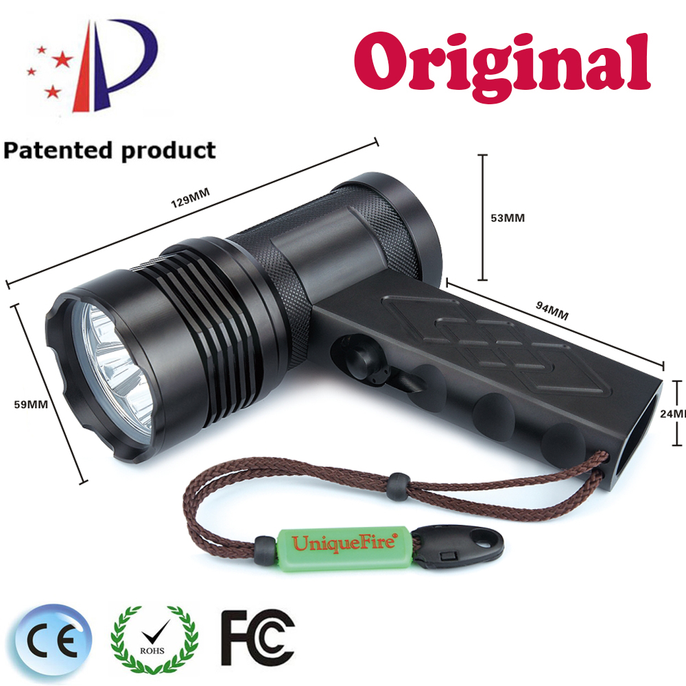 UniqueFire 5 Modes Powerful Flashlight With 6 *Cree XML2 LED 60Watt T19 Police LED Flashlight By 4*18650 Rechargable Battery цена 2017