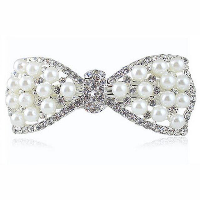 Rhinestone Pearls Hairclips