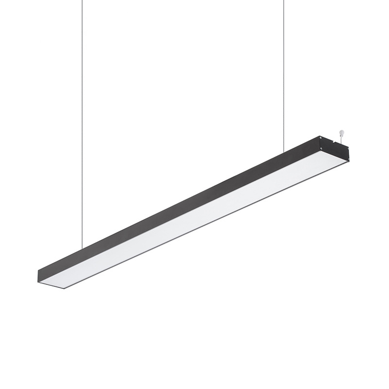 GZMJ Modern Office LED Pendant Light Linear Pendant Lamps Hanging lamp Bar Droplight For Conference Room Study Home Decor Lights zx modern aluminum led chip pendant lamp engineering hanging wire strip light fixture for office conference room study lamp