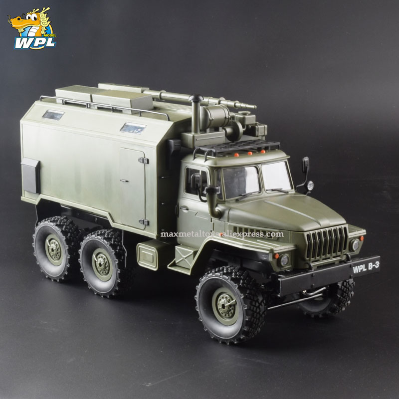 WPL B36 1:16 RC Car 2.4G 6WD Military Truck Crawler Command Communication Vehicle RTR Toy Carrinho de controle-in RC Cars from Toys & Hobbies    1