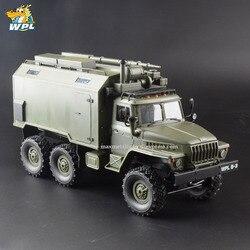 WPL B36 1:16 RC samochód 2.4G 6WD ciężarówka wojskowa Crawler Command komunikacja pojazd RTR zabawka Carrinho de controle w Samochody RC od Zabawki i hobby na