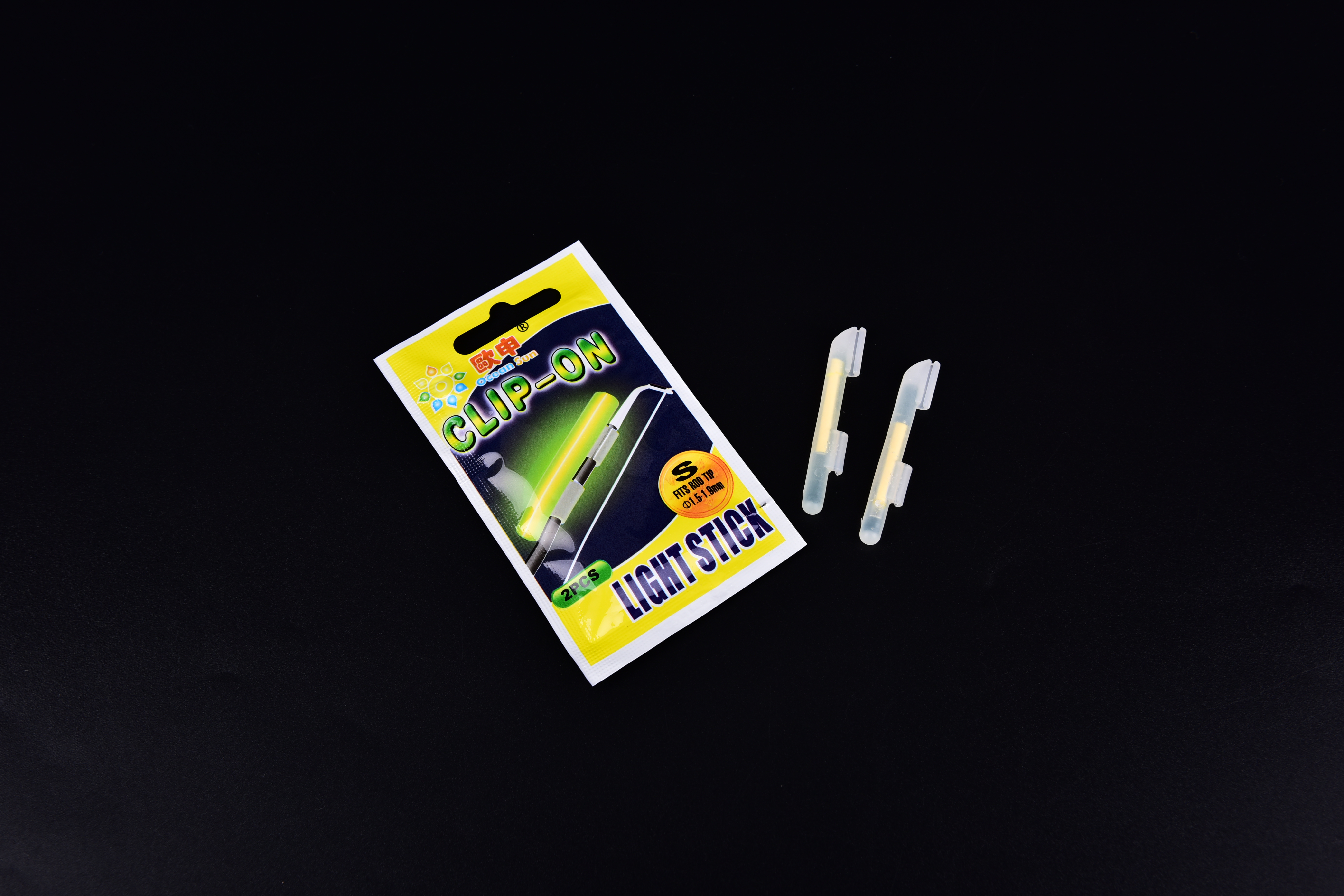 20Pcs SSSML Fishing Light Night Float Rod Dark Glow Fluorescent Stick Luminous Squid Fish Lure Set 4.5*0.5 cm
