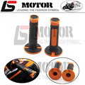 "Orange FOR KTM Accessories Motorcycle Handle Grip Dirt Bike Motocross 7/8"" Handlebar Rubber Gel PRO Hand Grips Brake Hands"