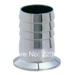 Free shipping SS304 1.75 OD Sanitary Hose Barb Adapter Pipe Fitting Fits TRI CLAMP (OD:64mm)