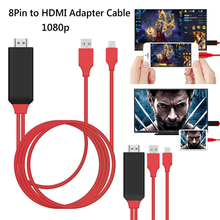 8 Pin to HDMI Cable HDTV TV Digital AV Adapter USB HDMI 1080P Smart Converter Cable for Apple for iPhone 7 6 6S Plus for ipad O3
