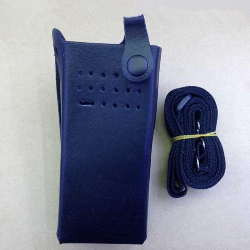 Black Color Hard Leather Holster Case for MOTOTRBO GP328D etc walkie talkie