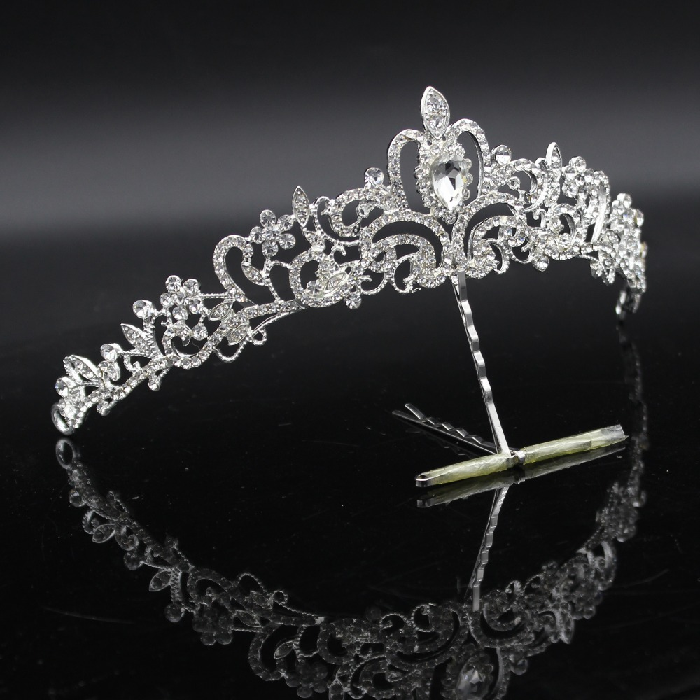 Fashion Crystal Wedding Bridal Jewelry Sets Tiara Crown Earring Necklace Bride Women Pageant Prom Jewelry Set Hair Ornaments 1