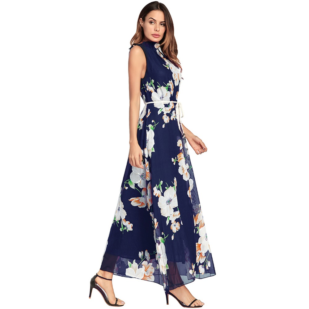 La Bleu Maxi Manches Femme Plus Dark Blue 0580 Ete Robe Fractionnement Neck De Filles Taille 0580 D'été Pour Robes Halter Dame Sans Femmes 2018 Blue UzMSVp