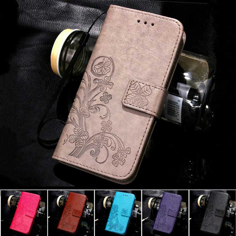 Four Leaf Clover Case for Samsung Galaxy J5 Cover Samsung Galaxy J5 2016 J5108 Flip Wallet Case Phone Coque Hoesjes PU Leather