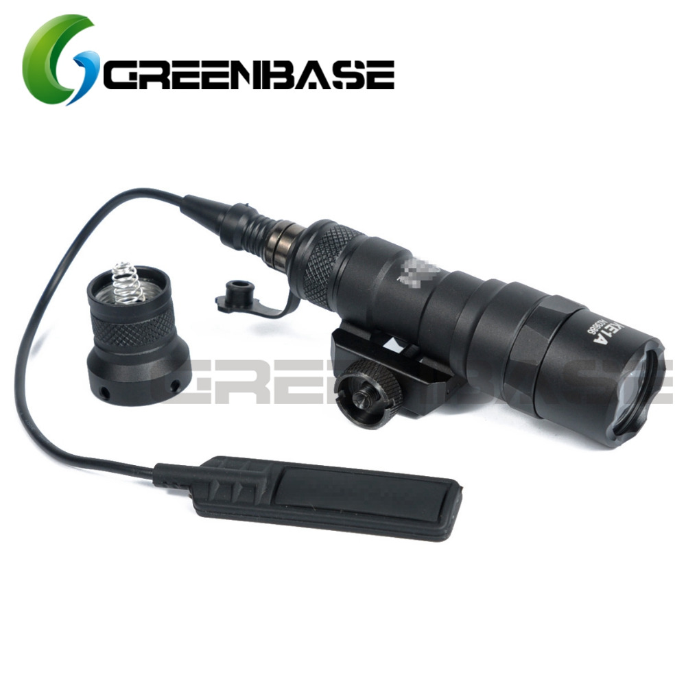 Tactical M300 M300B MINI Scout Light Outdoor Rifle Hunting Flashlight 400 lumen Weapon Light LED Lanterna tactical flashlight with tail switch m300b mini scout light new version light black de