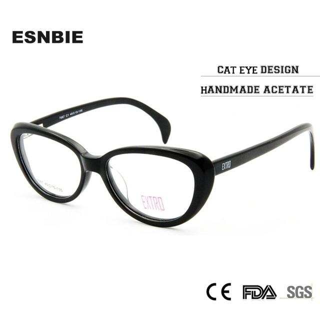 3f8843284a88 ESNIE Fashion Designer Clear Lens Vintage CatEye Glasses Frame Female Hand  Made Acetate Frames Eyewear Women Rx Optic Glass