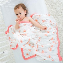 100% Bamboo FIber Blanket Newborn Baby Swaddling Four Layer Super Comfy Bedding Blankets Swaddle Wrap Babies Muslin