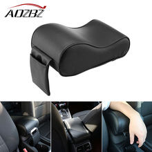 Aozbz car styling Car Armrest Pad super Soft Universal Auto Armrests Covers Car Auto Center Console Arm Rest Seat Box Pads Black(China)