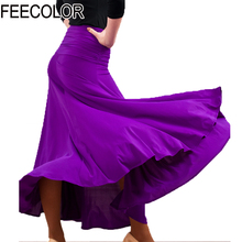 FEECOLOR Modern Dance costumes flamenco skirts ballroom latin salsa dancing dress skirt dancewear