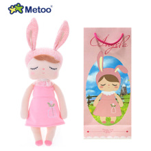 Metoo Doll Stuffed Toys Plush Animals Soft Kids Baby Toys for Girls Children Boys Kawaii Cartoon Angela Rabbit Baby Doll Toy