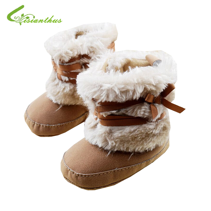 Amiley Baby Soft Sole Snow Outdoor Boots Soft Crib Shoes Toddler Boots