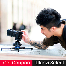 Ulanzi Camera Video Stabilizer System Camera Travel Track Dolly Slider Low Angle Shooting Tripod for Canon Nikon DSLR Camera